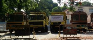 TRUCKS SEIZED BY POLICE