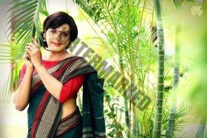 transgender mobel wearing sari