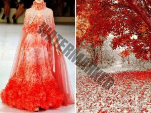 the natural world with dress designs.6